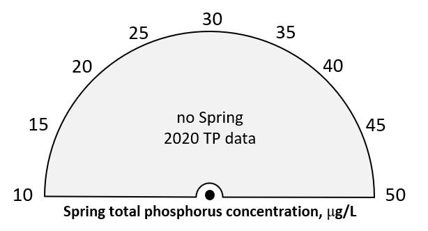 Spring 2020 total phosphorus = no data.